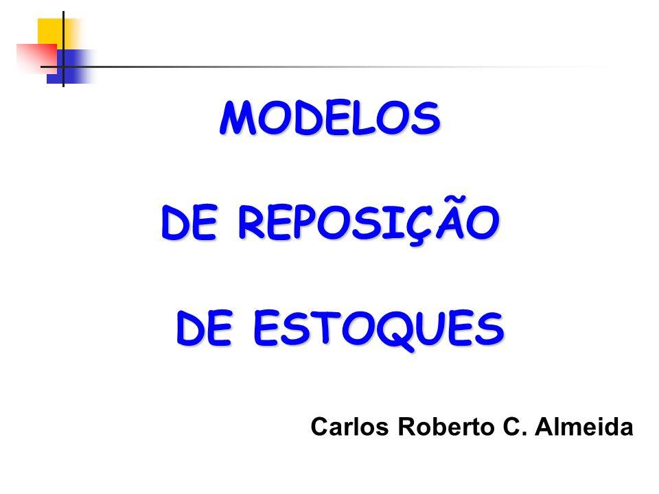 MODELOS DE REPOSIÇÃO DE ESTOQUES DE ESTOQUES Carlos Roberto C. Almeida