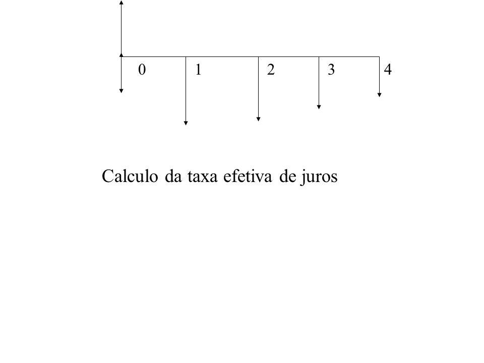 01234 Calculo da taxa efetiva de juros