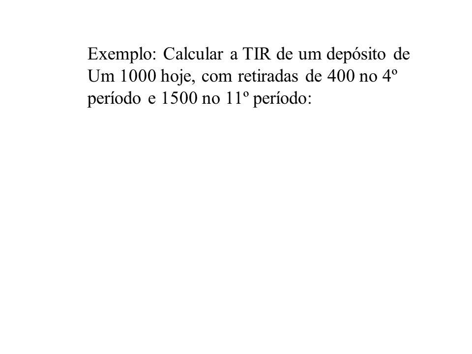 a) Pressionar tecla f CLEAR REG b) Introduzir o valor do fluxo de caixa CHS se negativo e então g CFo. Caso não existir fluxo de caixa inicial pressio