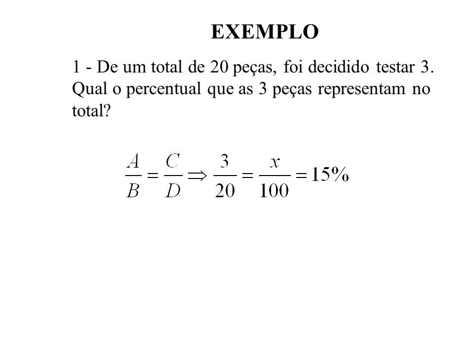 O Cálculo percentual é usado quando se quer comparar partes de totais diferentes ou quando se quer estudar a variação de valor de uma grandeza, de ord