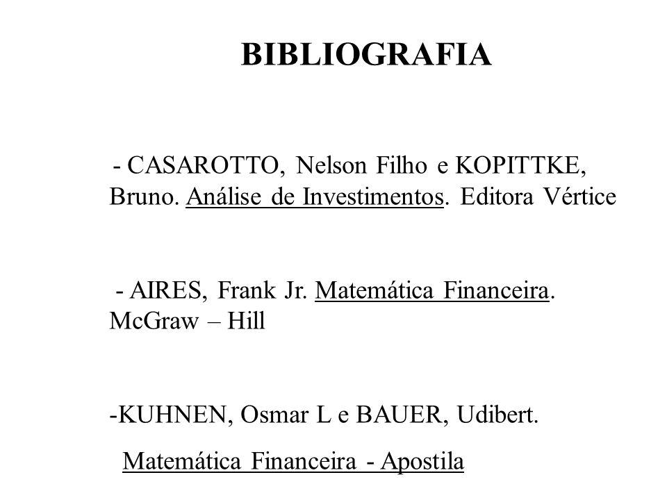 BIBLIOGRAFIA - CASAROTTO, Nelson Filho e KOPITTKE, Bruno.