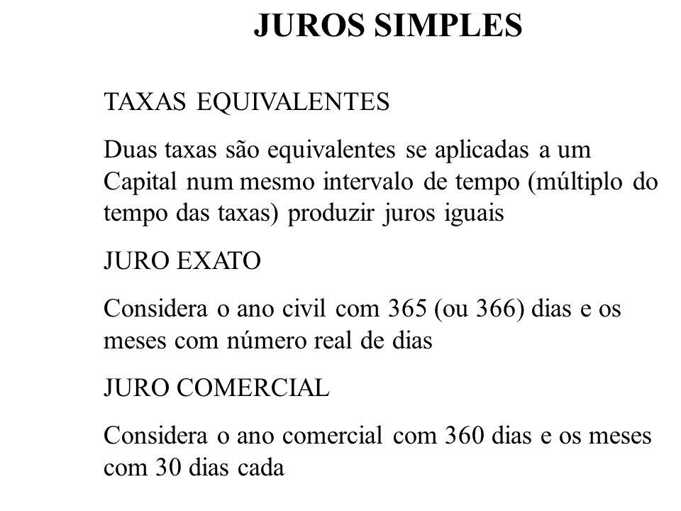 1 - JUROS SIMPLES Os juros são sempre calculados sobre o Principal. Por exemplo, se tivermos UM 5.000,00 a 10% ao mês durante 5 períodos, teremos: