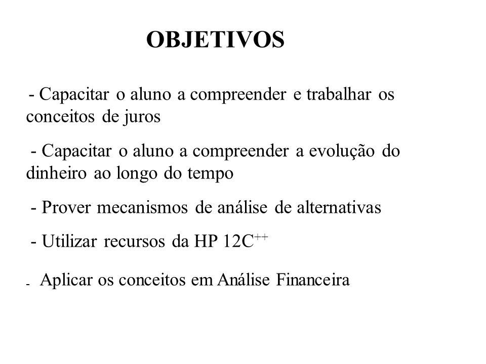 Desconto Comercial (por fora) = Bancário Nesta operação o desconto é calculado sobre o valor nominal (montante) ou valor do título D = F.