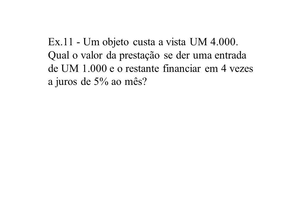 RELAÇÃO ENTRE P e A OBJETIVO - Obter o Valor Presente (P) equivalente a Série Uniforme (A) e vice-versa FÓRMULAS ou