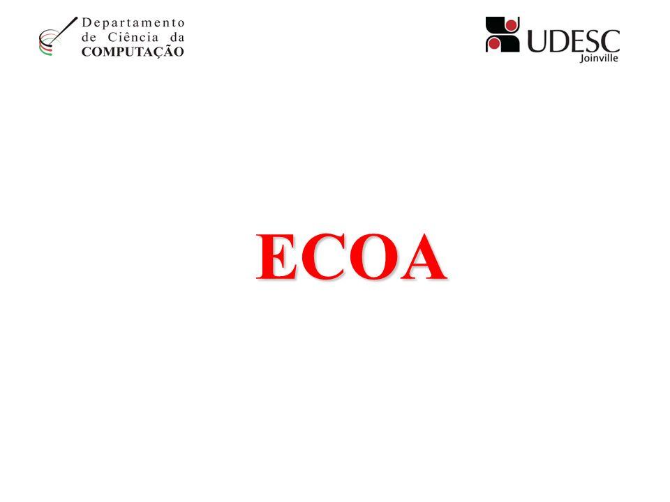 ECO Em computação, um eco é a impressão ou visualização de caracteres à medida que: * são introduzidos via um dispositivo de entrada, * instruções são executadas, ou * estes são retransmitidos e recebidos de um terminal distante.