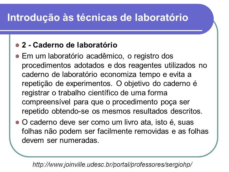 2 - Caderno de laboratório Em um laboratório acadêmico, o registro dos procedimentos adotados e dos reagentes utilizados no caderno de laboratório eco