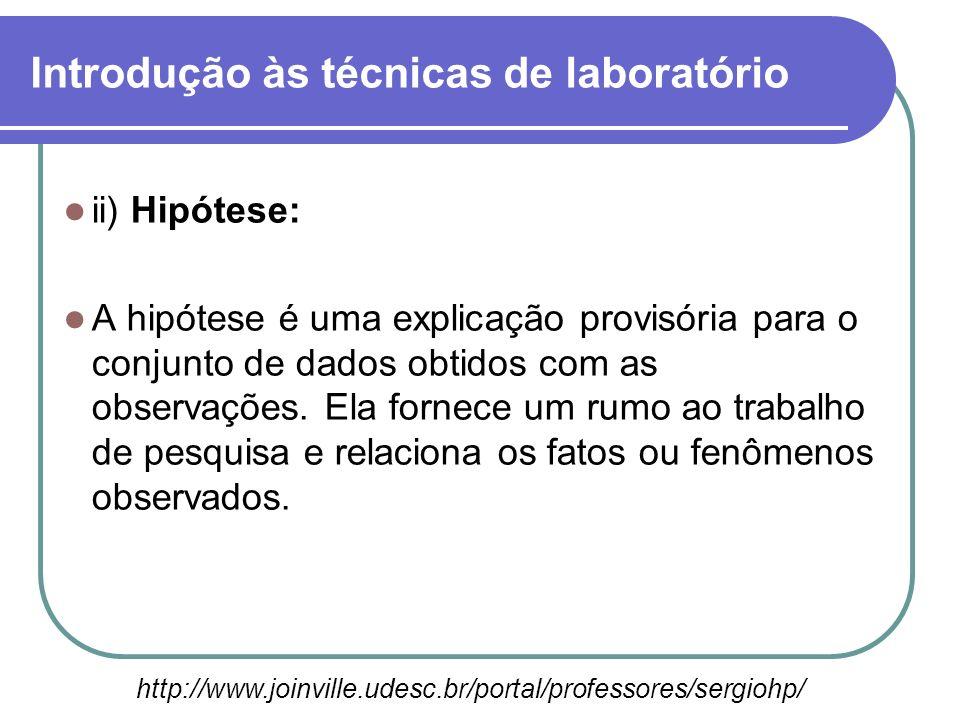 ii) Hipótese: A hipótese é uma explicação provisória para o conjunto de dados obtidos com as observações. Ela fornece um rumo ao trabalho de pesquisa