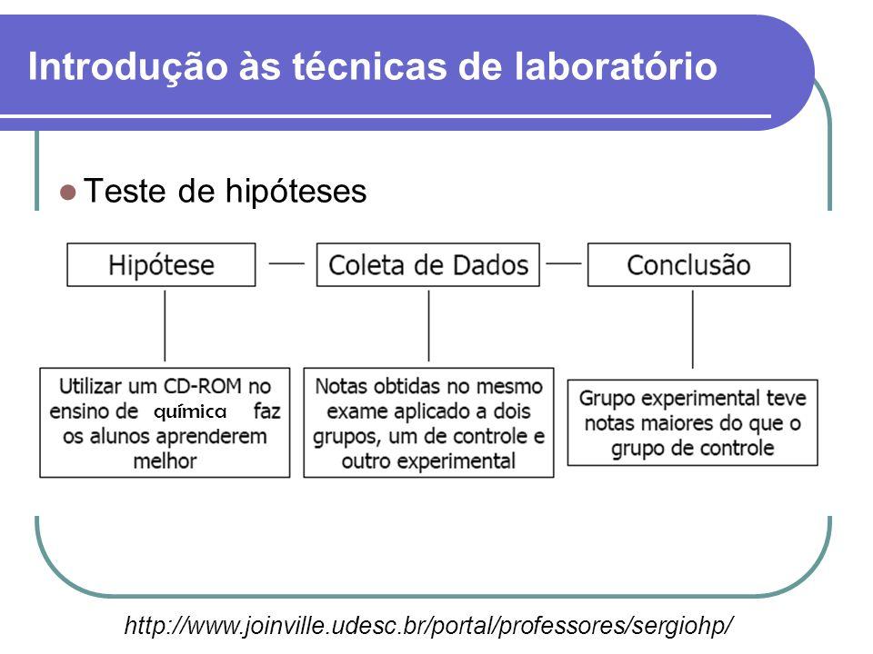 Teste de hipóteses A hipótese é uma explicação provisória para o conjunto de dados obtidos com as observações. Ela fornece um rumo ao trabalho de pesq