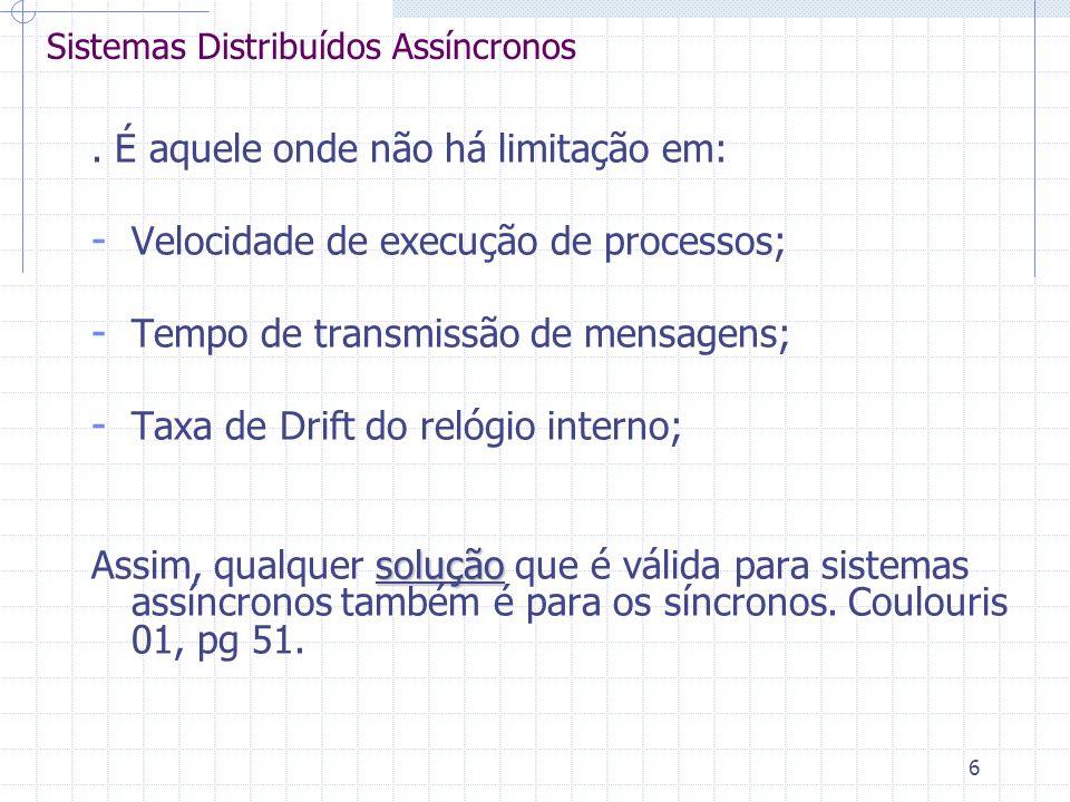 6 Sistemas Distribuídos Assíncronos.