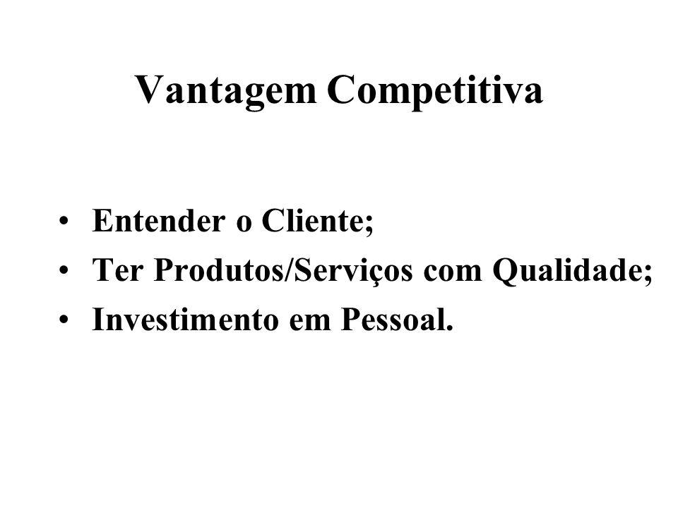 Entender o Cliente; Ter Produtos/Serviços com Qualidade; Investimento em Pessoal.
