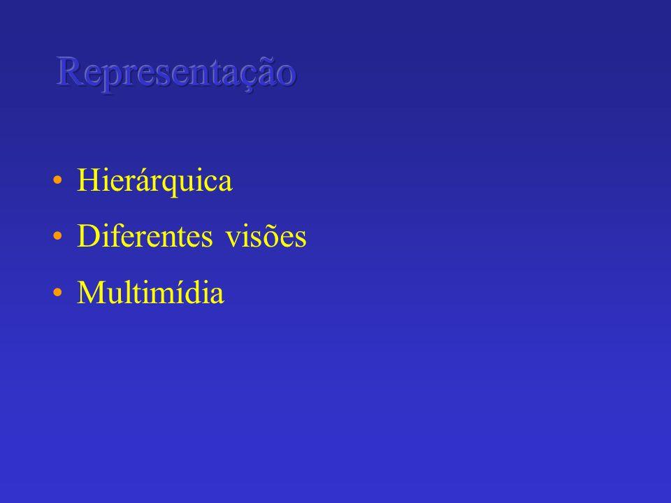 Hierárquica Diferentes visões Multimídia