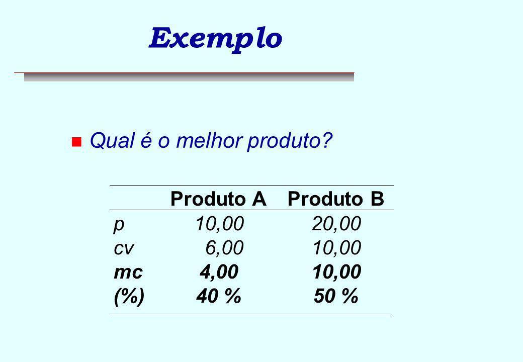 Exemplo n Utilização diferenciada da estrutura de produção.