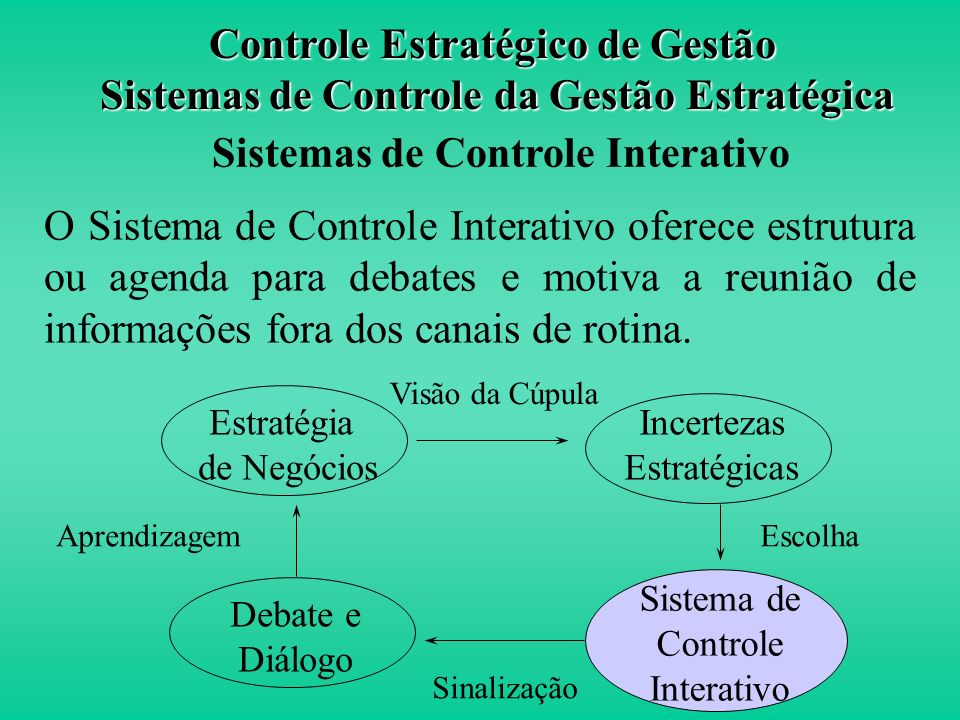 Definição Sistemas que estimulam a busca e aprendizado, favorecendo o desenvolvimento de novas estratégias como resposta às oportunidades e/ou problem