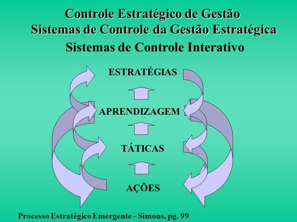 O Sistema de Controle Interativo oferece estrutura ou agenda para debates e motiva a reunião de informações fora dos canais de rotina. Estratégia de N