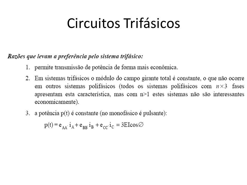 Circuitos Trifásicos (correntes de linha)