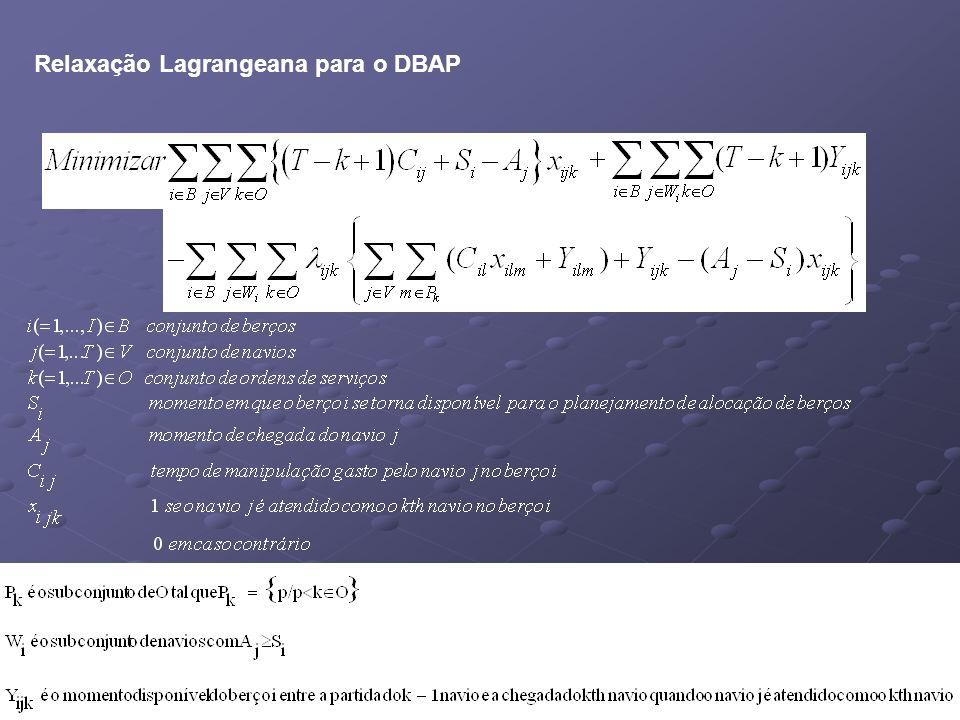 Relaxação Lagrangeana para o DBAP