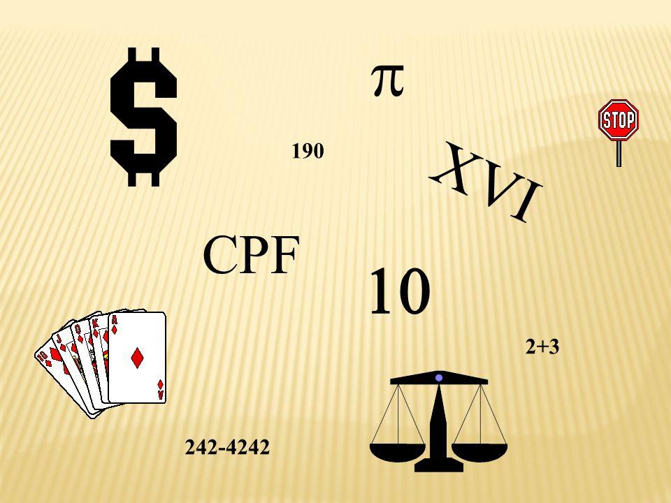 XVI CPF 2+3 190 242-4242