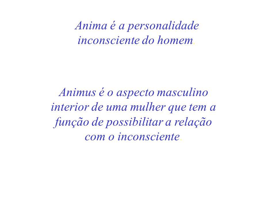 Anima é a personalidade inconsciente do homem. Animus é o aspecto masculino interior de uma mulher que tem a função de possibilitar a relação com o in