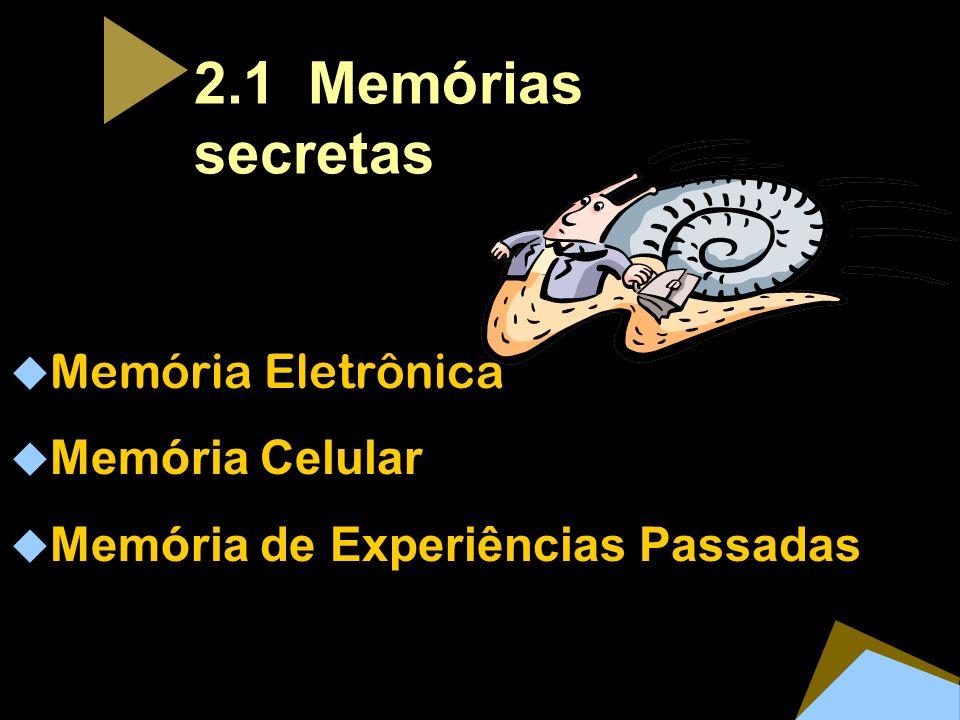 2.1 Mem ó rias secretas Memória Eletrônica Mem ó ria Celular Mem ó ria de Experiências Passadas