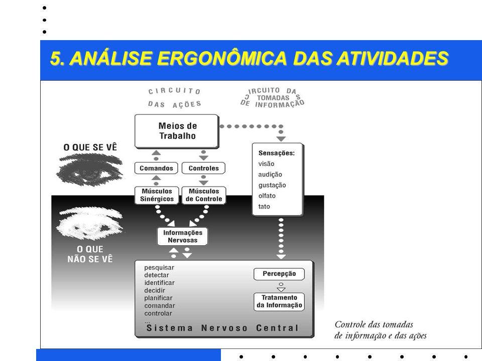 2 5. ANÁLISE ERGONÔMICA DAS ATIVIDADES 3A parte observável da atividade (sensório-motora) pode ser evidenciada pelo conjunto de ações de trabalho que
