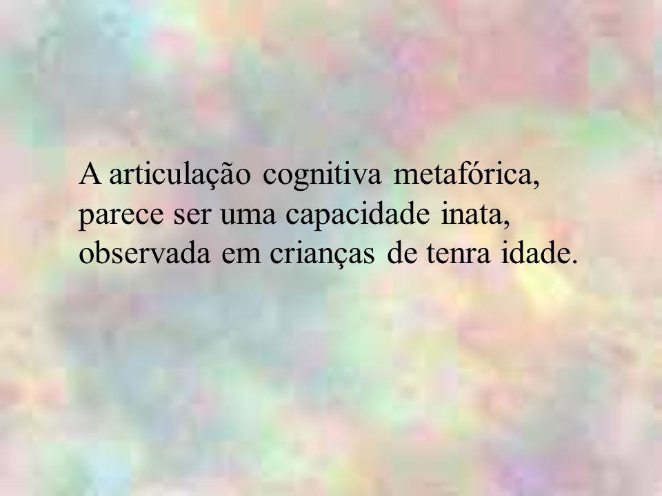A articulação cognitiva metafórica, parece ser uma capacidade inata, observada em crianças de tenra idade.