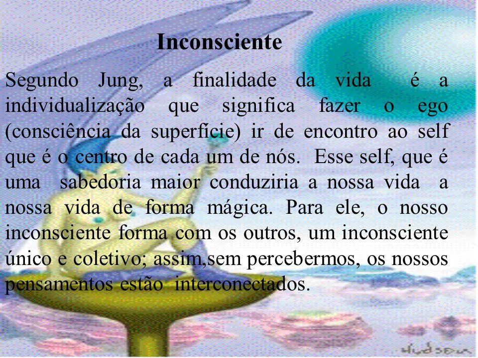 Inconsciente Segundo Jung, a finalidade da vida é a individualização que significa fazer o ego (consciência da superfície) ir de encontro ao self que