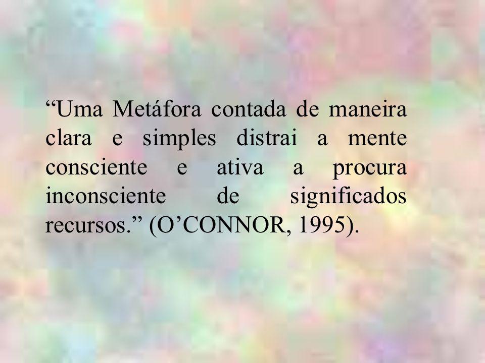 Uma Metáfora contada de maneira clara e simples distrai a mente consciente e ativa a procura inconsciente de significados recursos. (OCONNOR, 1995).