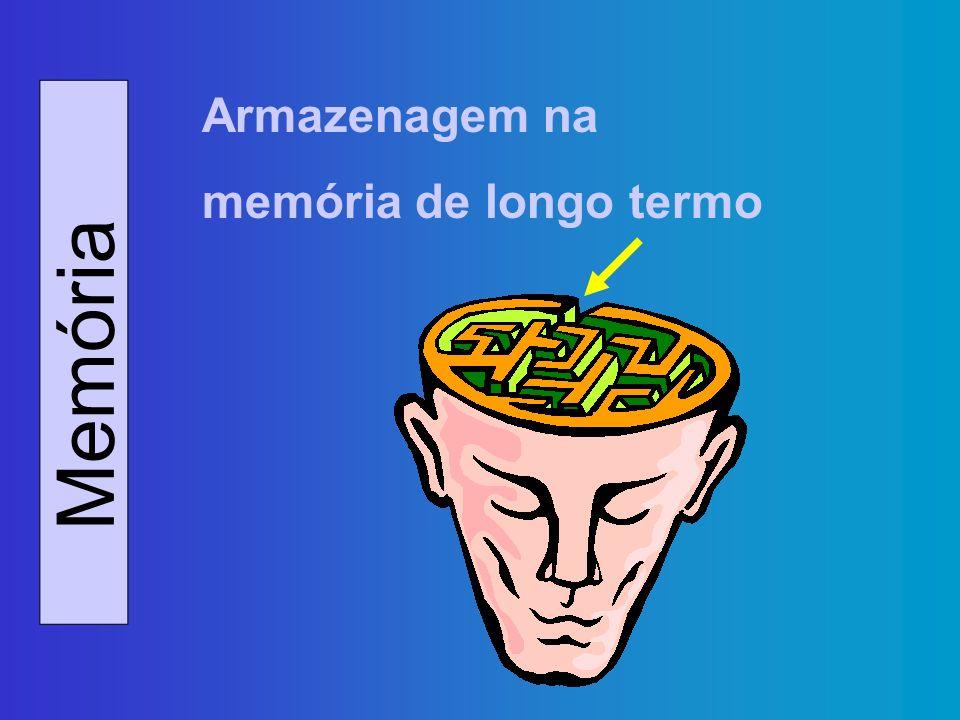 Memória Armazenagem na memória de longo termo