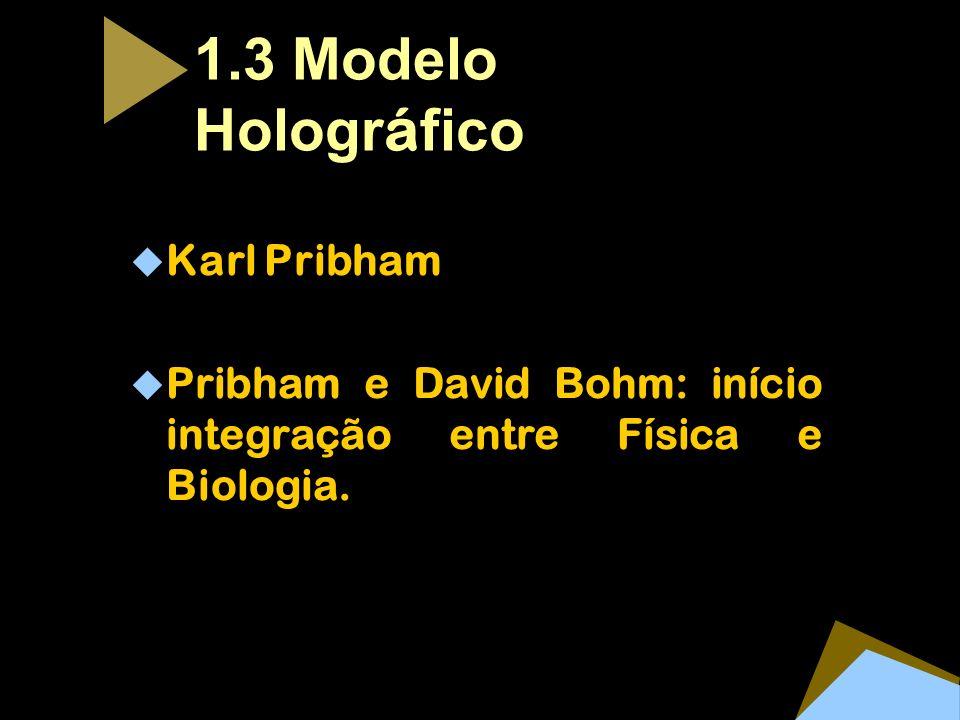 1.3 Modelo Hologr á fico Karl Pribham Pribham e David Bohm: início integração entre Física e Biologia.