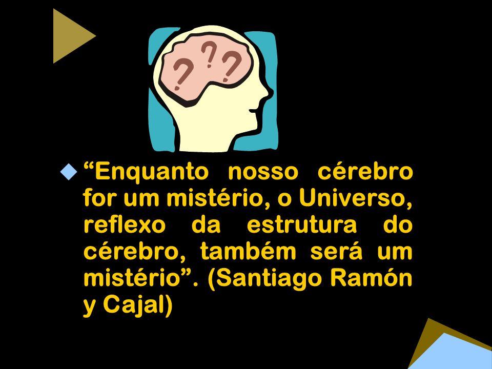 Enquanto nosso cérebro for um mistério, o Universo, reflexo da estrutura do cérebro, também será um mistério. (Santiago Ramón y Cajal)