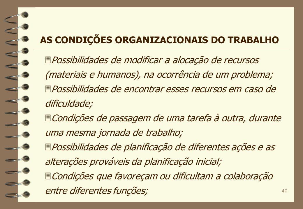 40 3Possibilidades de modificar a alocação de recursos (materiais e humanos), na ocorrência de um problema; 3Possibilidades de encontrar esses recurso