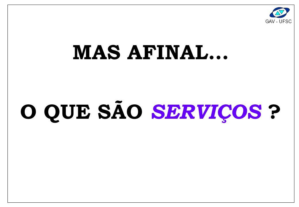 GAV - UFSC MAS AFINAL... O QUE SÃO SERVIÇOS ?