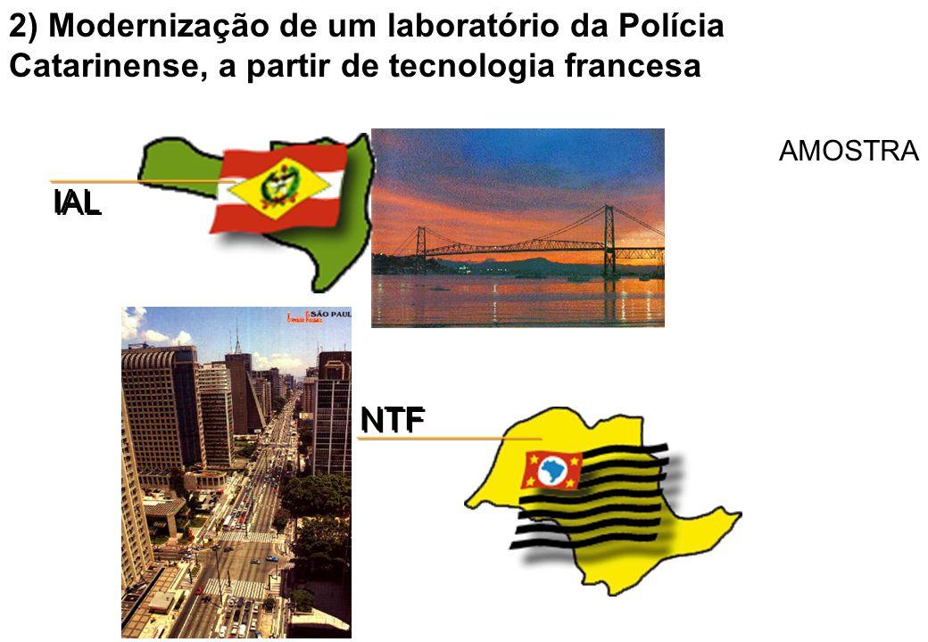 2) Modernização de um laboratório da Polícia Catarinense, a partir de tecnologia francesa AMOSTRA IAL NTF