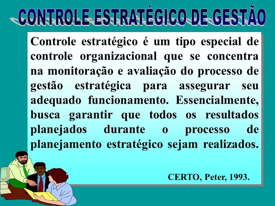 O controle estratégico é orientado à manutenção e à melhoria contínua da posição competitiva da empresa.