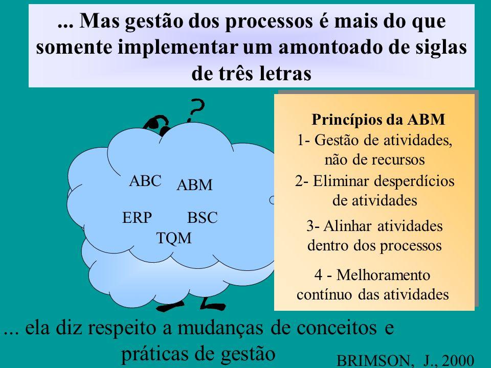 Gestão dos processos possibilita a alta administração focalizar a atenção na definição de estratégias, redirecionando recursos quando a estratégia não