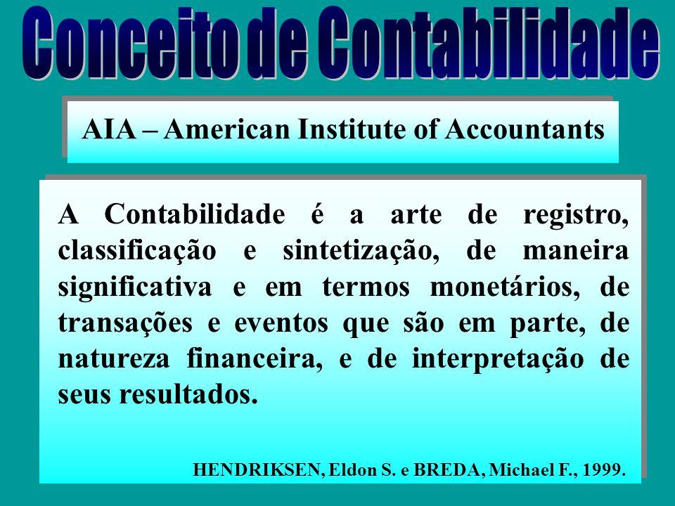 GONÇALVES & BATISTA, 1996. O objeto da Contabilidade é o Patrimônio, em torno do qual a Ciência contábil desenvolve suas funções, como meio para alcan