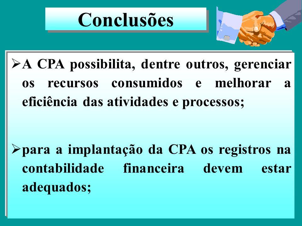 Contabilização e custeio das atividades Registros por NG/TG e UO/UA. Ao final da conta, pode ser acrescido o número da atividade. Recursos transferido
