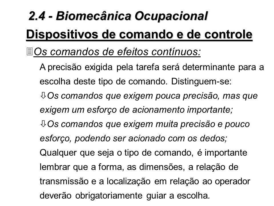 Dispositivos de comando e de controle 3Os comandos de efeitos descontínuos: Um certo número de pontos permitem de defini-los: ò São usados para ações