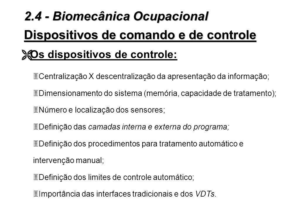 Dispositivos de comando e de controle Figura 2.18 - Limites de esforço recomendados para uma mulher. 2.4 - Biomecânica Ocupacional