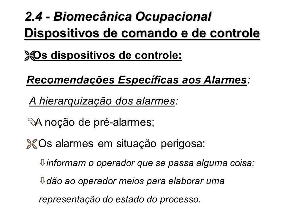 Recomendações Específicas aos Alarmes: As dificuldades encontradas: 3 Os alarmes normais e os alarmes antecipados; 3 O procedimento de acionamento do