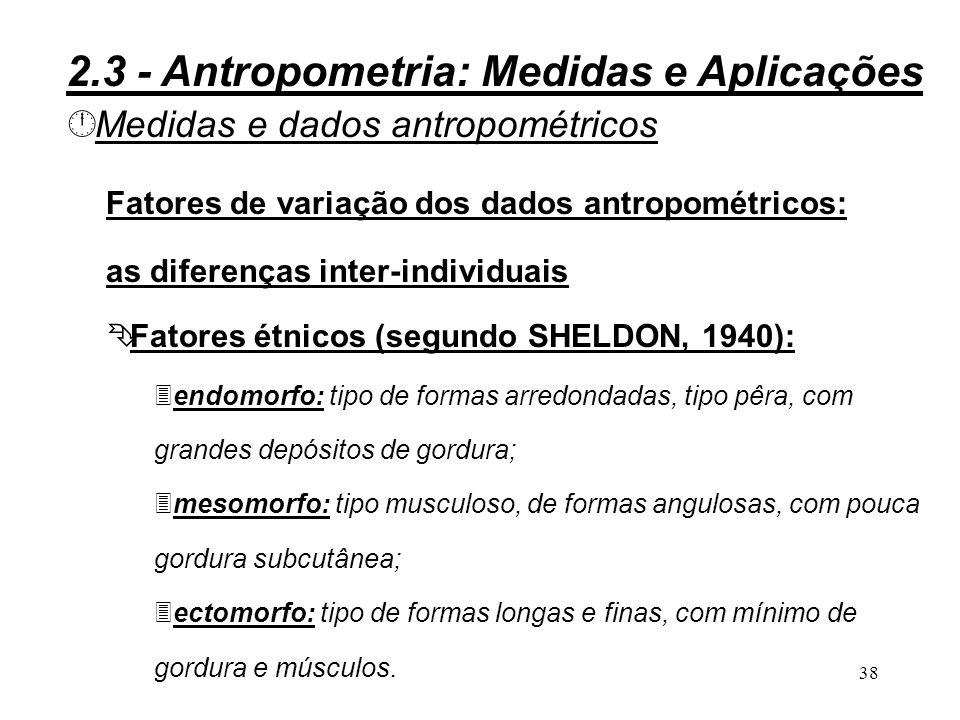 37 Figura 2.9 - Método de MORAND 2.3 - Antropometria: Medidas e Aplicações