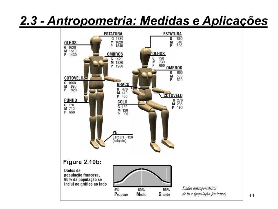 43 Figura 2.10a: 2.3 - Antropometria: Medidas e Aplicações
