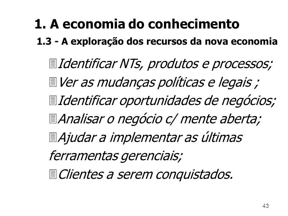42 Benefícios de um SGC : 3Antecipar mudanças no mercado; 3Antecipar as ações dos concorrentes; 3Descobrir novos concorrentes potenciais; 3Aprender co