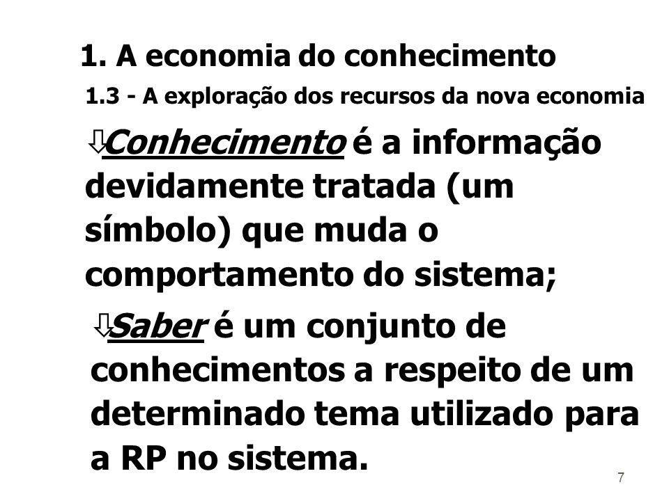 7 òSaber é um conjunto de conhecimentos a respeito de um determinado tema utilizado para a RP no sistema.