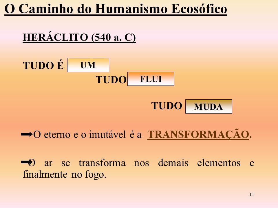 10 O Caminho do Humanismo Ecosófico ANAXÁGORAS (500 a.
