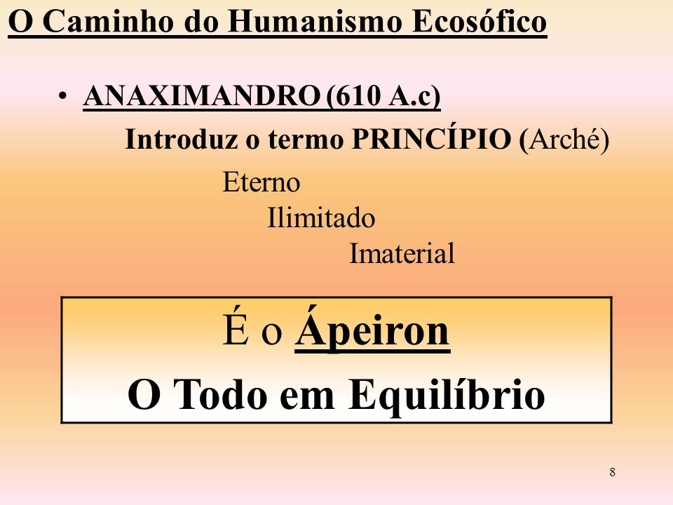 7 A Água Terra Água Ar Fogo O Caminho do Humanismo Ecosófico Tales de Mileto ( 624 a.