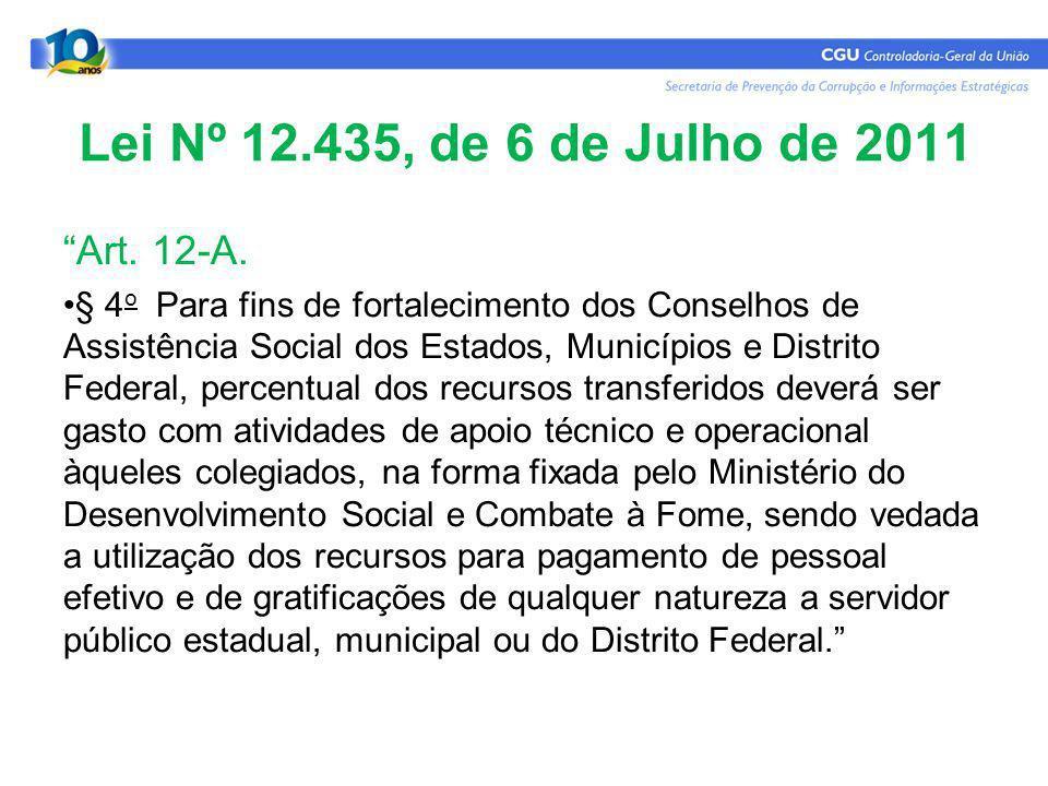 Lei Nº 12.435, de 6 de Julho de 2011 Art. 12-A.