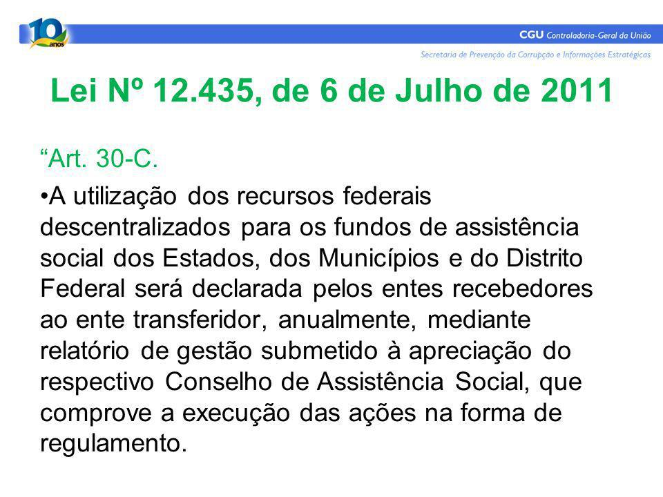 Lei Nº 12.435, de 6 de Julho de 2011 Art. 30-C.