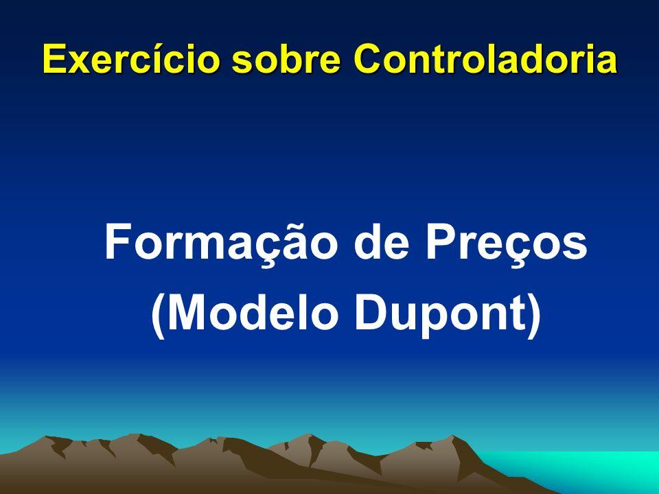 Exercício sobre Controladoria Formação de Preços (Modelo Dupont)