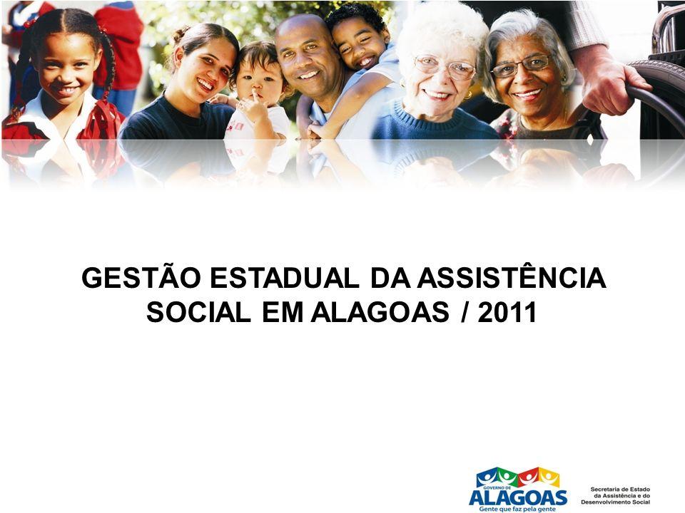 GESTÃO ESTADUAL DA ASSISTÊNCIA SOCIAL EM ALAGOAS / 2011